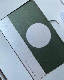 Cadeau kaart parelmoer achterkant