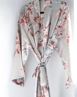Kimono satijn Luxury flower