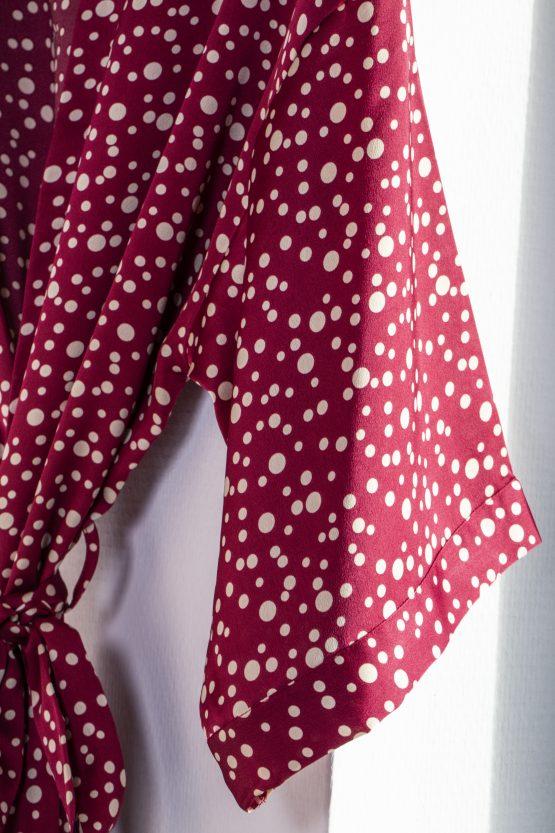 Kimono satijn Red Dots valentijn editie